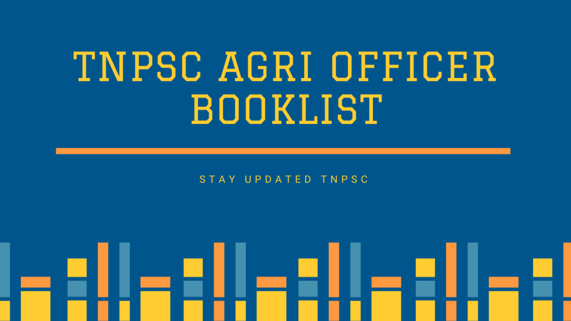 TNPSC AGRI OFFICER BOOKLIST