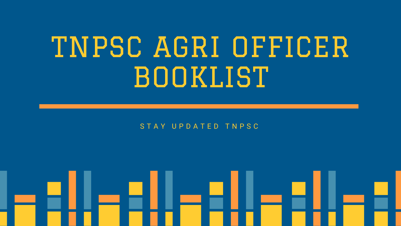 TNPSC AGRI OFFICER BOOKLIST