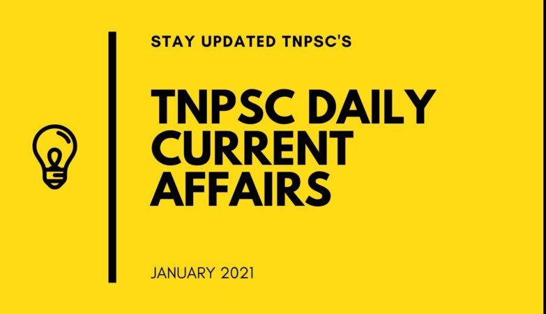 TNPSC CURRENT AFFAIRS