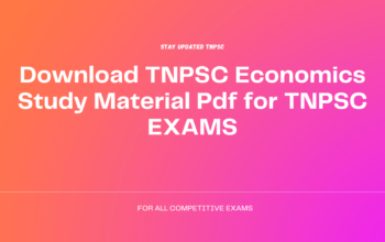 Download TNPSC Economics Study Material Pdf for TNPSC EXAMS
