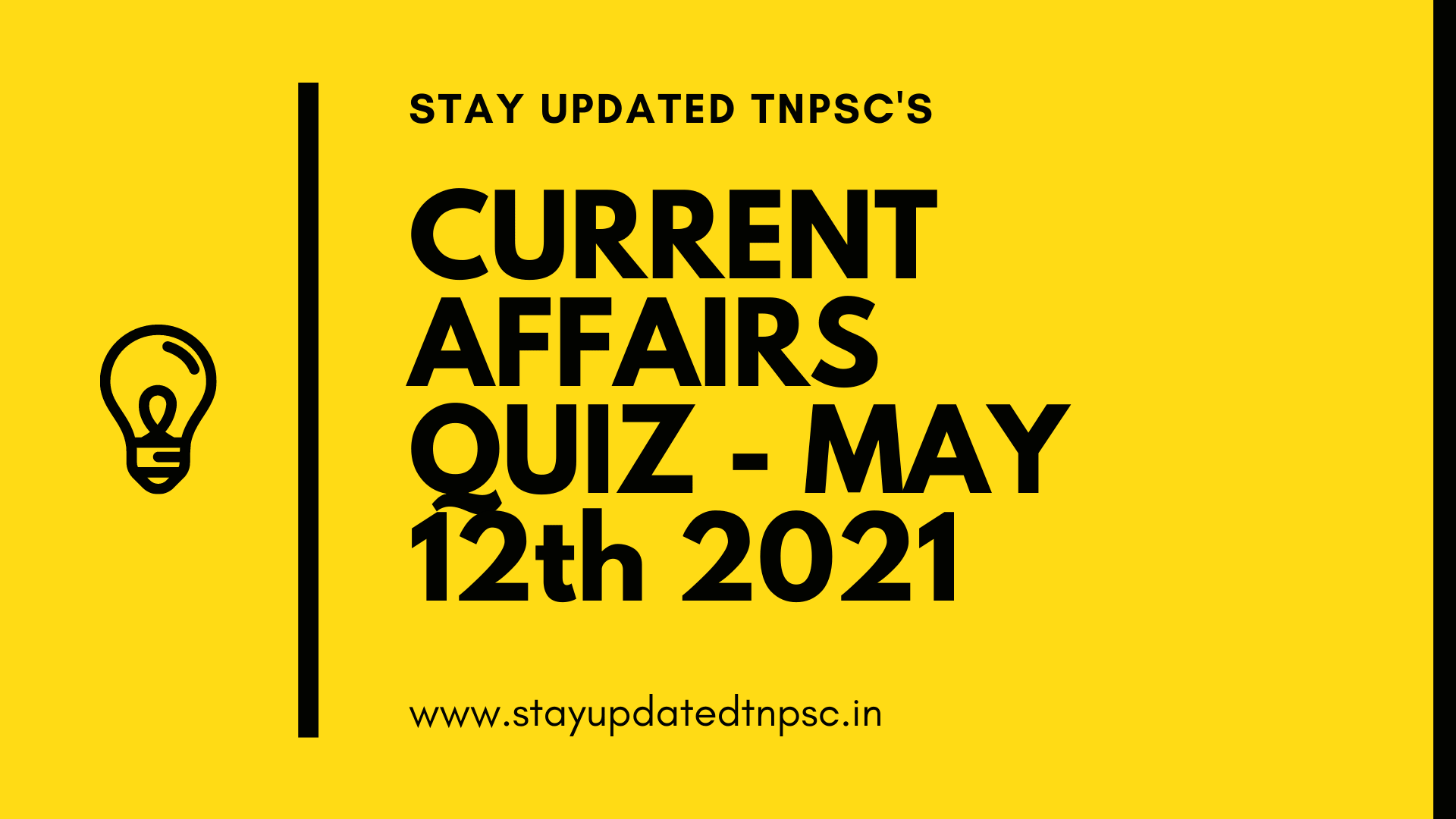 TNPSC DAILY CURRENT AFFAIRS : 12 MAY 2021