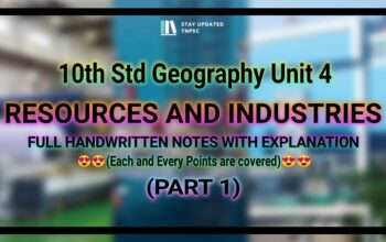 10th NEW GEOGRAPHY UNIT 4 FULL NOTES WITH EXPLANATION | PART 1 | TNPSC GEOGRAPHY