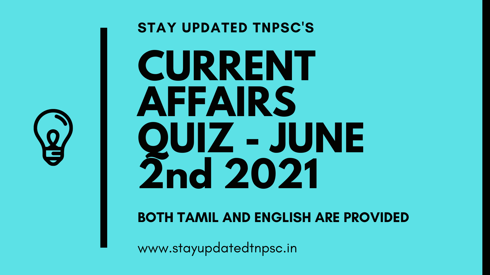 TNPSC DAILY CURRENT AFFAIRS: 02 JUNE 2021