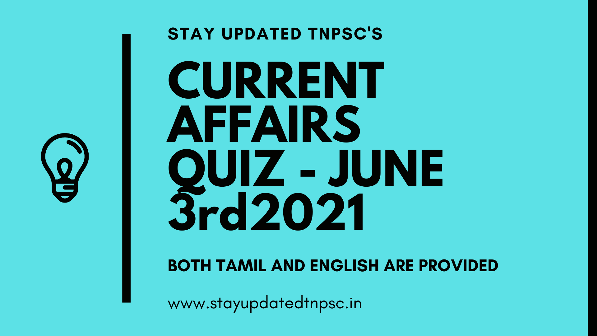 TNPSC DAILY CURRENT AFFAIRS: 03 JUNE 2021