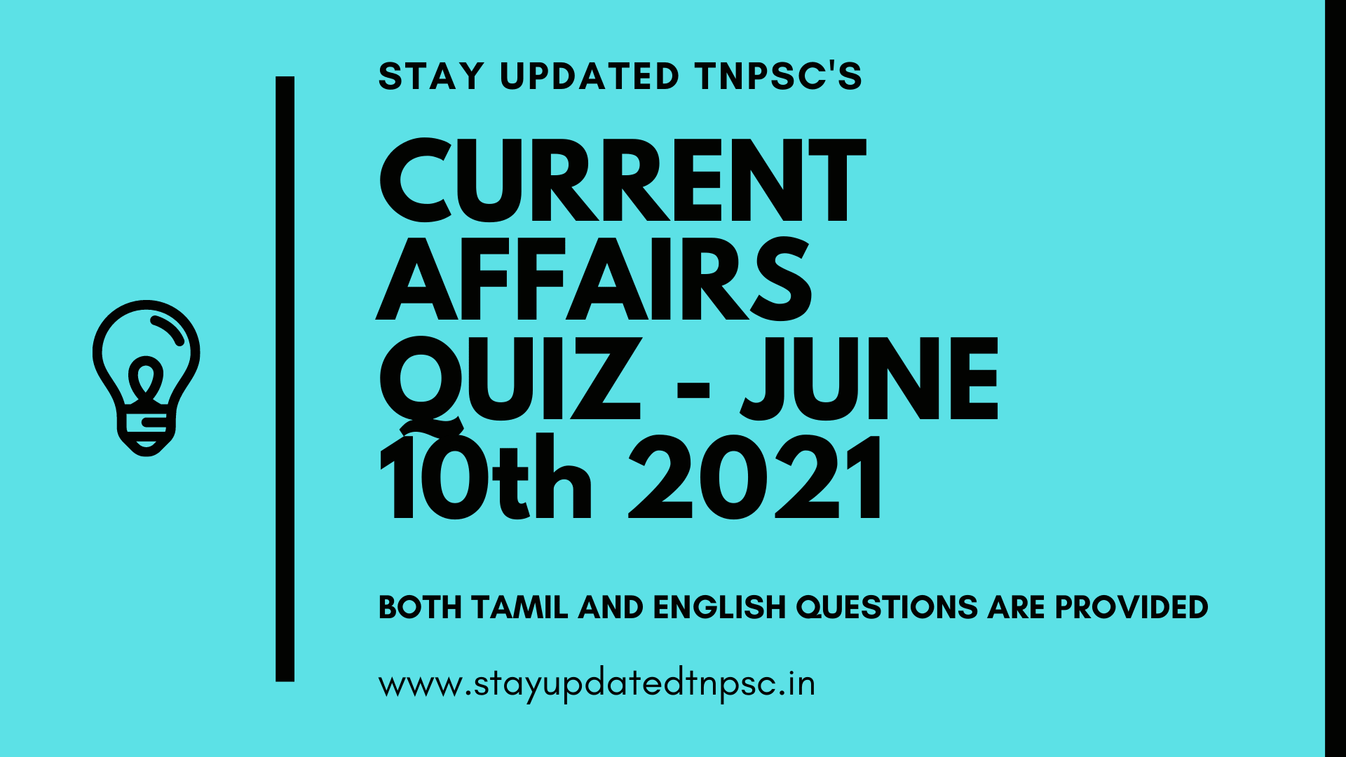 TNPSC DAILY CURRENT AFFAIRS: 10 JUNE 2021