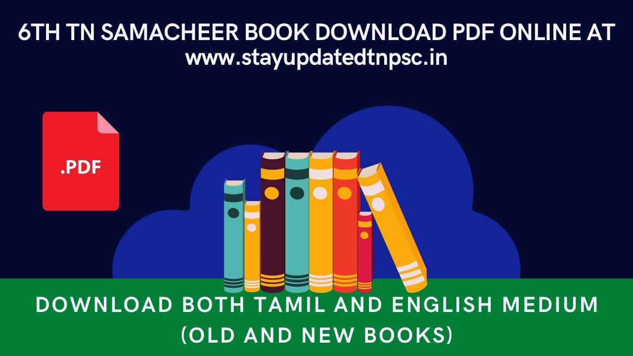 Tamilnadu 6th std New Books Term I II III All Subjects Free Download Online